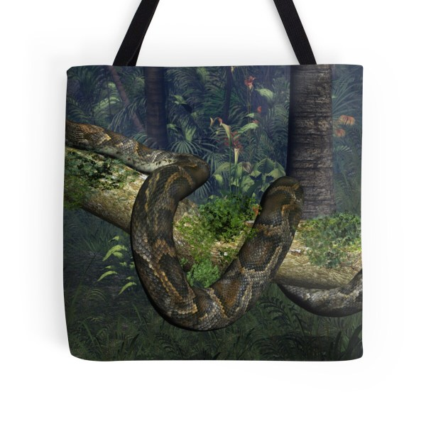 """""""reticulated Python"""" Tote Bags Walter Colvin Redbubble"""