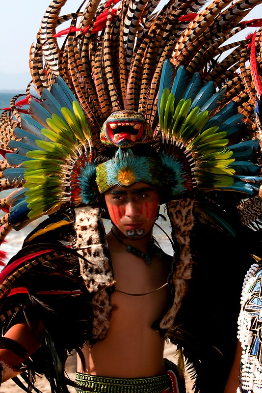 Native Male Mexican Indian Dancer by Swede  Redbubble
