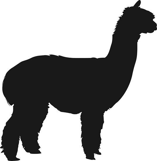 """alpaca silhouette"" Posters by PineLemon Redbubble"