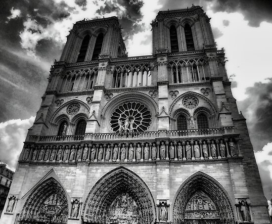Iphone X Border Wallpaper Quot Notre Dame In Black And White Quot Poster By Rapis60 Redbubble