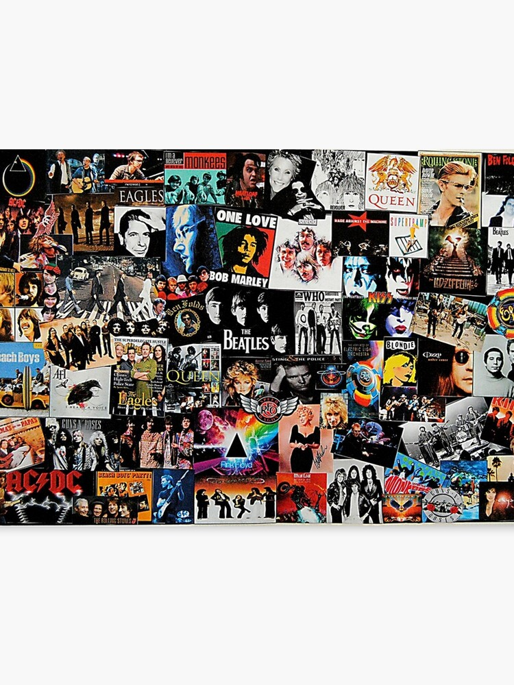 rock collage canvas print