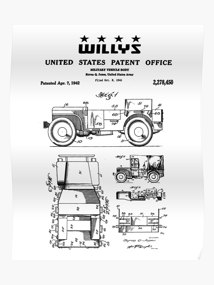 Willys Jeep Drawing