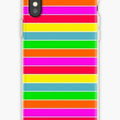 Hawaiian Chair Covers Black Leather Club Chairs Neon Rainbow Horizontal Deck Stripes Iphone Cases
