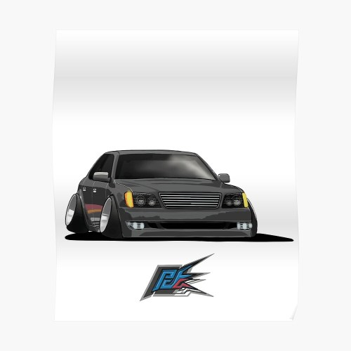 small resolution of black lexus ls400 stanced poster
