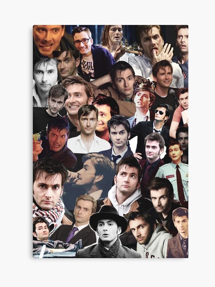 david tennant collage canvas