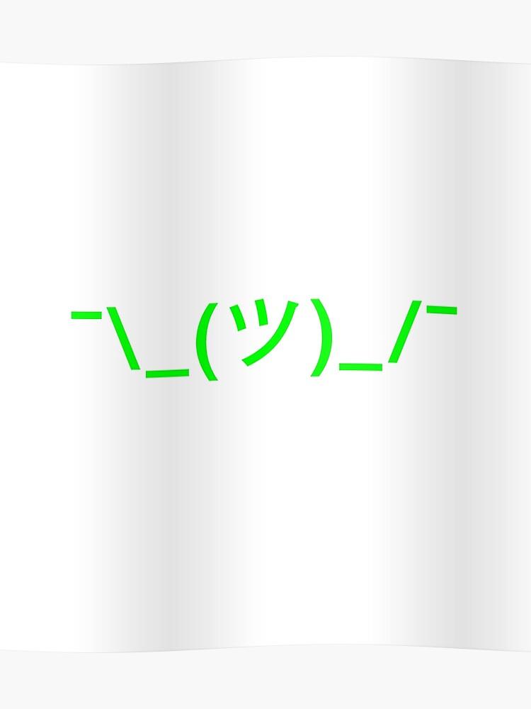 shrug emoji emoticon shruggie