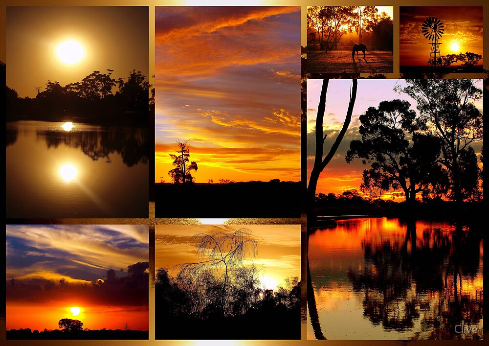 Sunset Collage by Clive  Redbubble