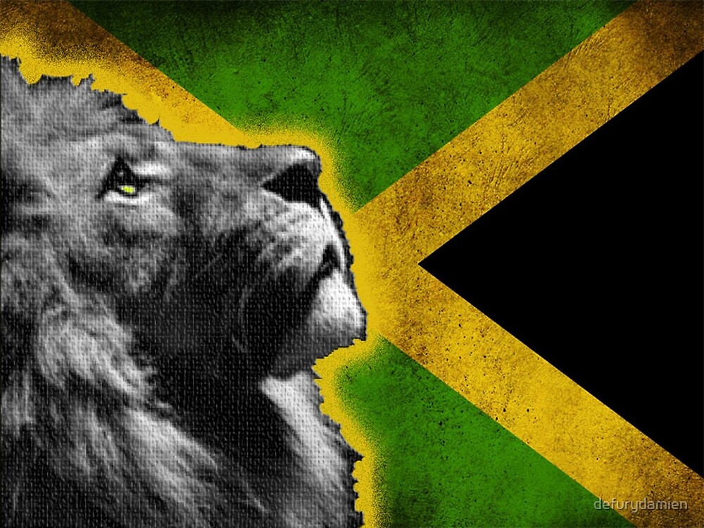 jamaican lion by defurydamien  Redbubble