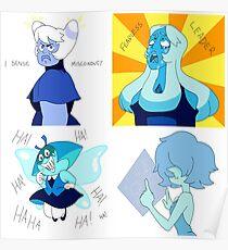 blue diamond court posters