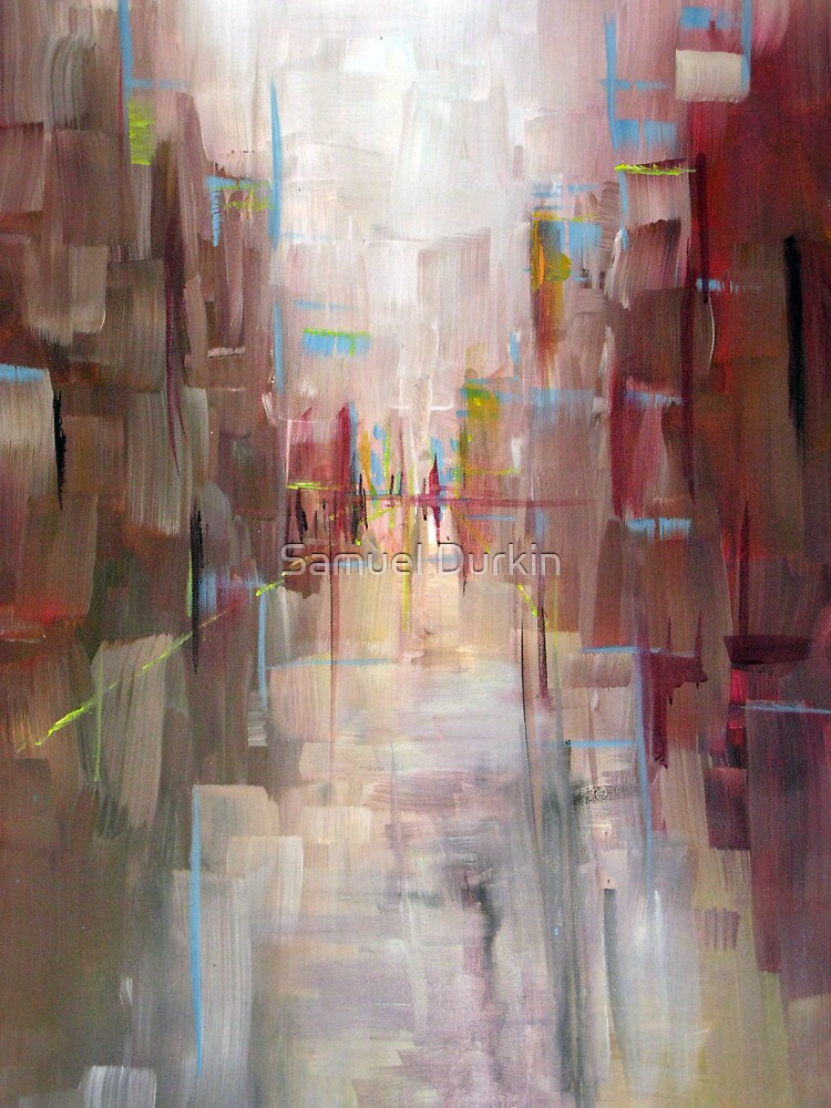 Warm City Skyline Abstract by Samuel Durkin  Redbubble