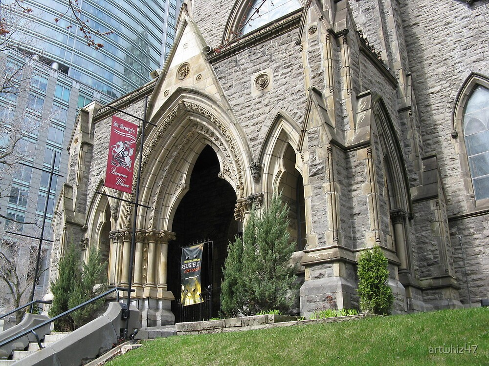 St Georges Anglican Church Montreal By Artwhiz47