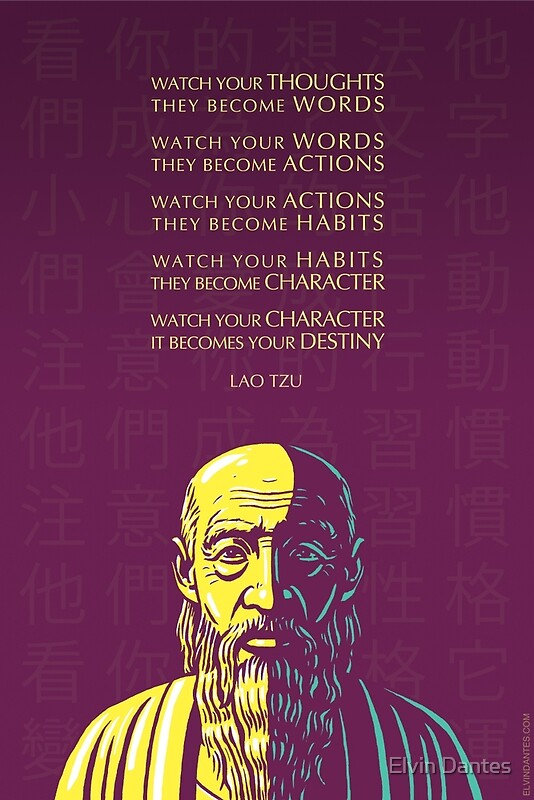 Libertarian Quotes Wallpaper Quot Lao Tzu Quote Watch Your Thoughts Quot Posters By Elvin