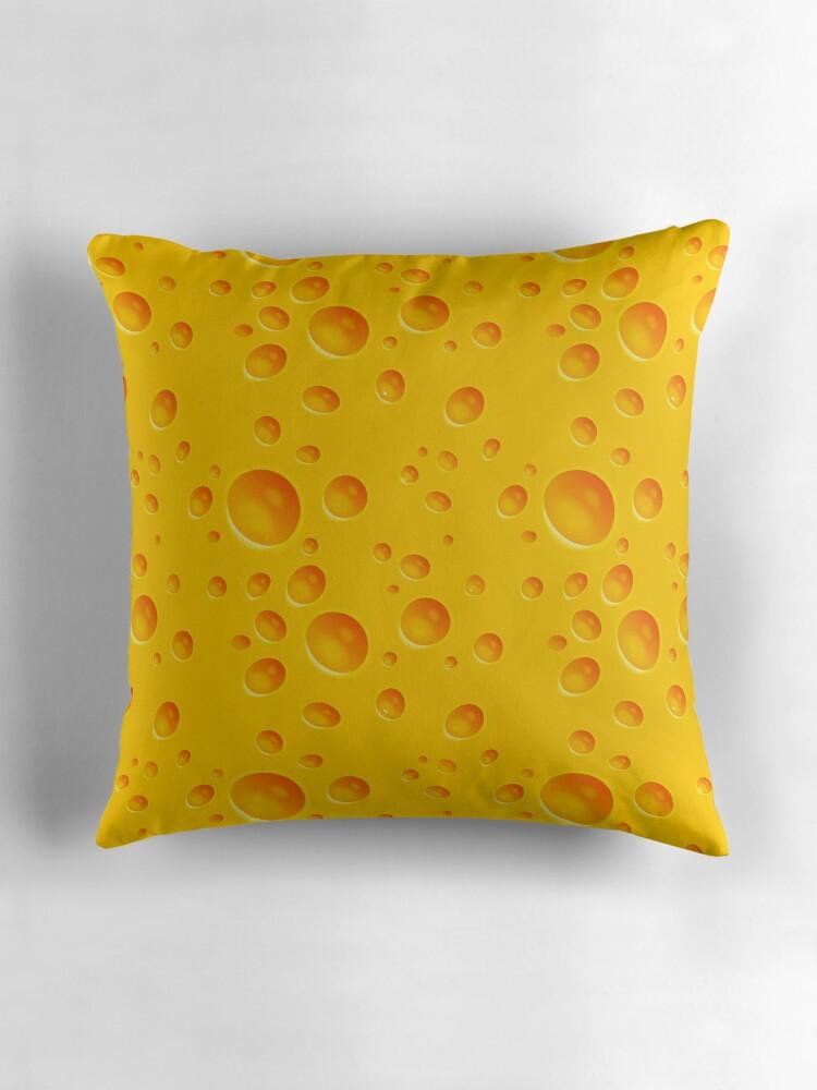 Cheese Throw Pillows by MikiMikibo  Redbubble