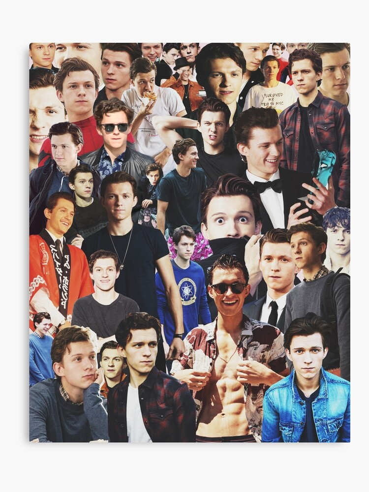 tom holland collage canvas