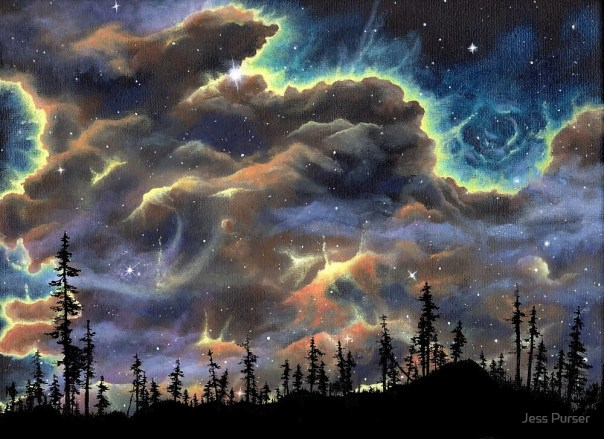 Image result for cosmic sky painting