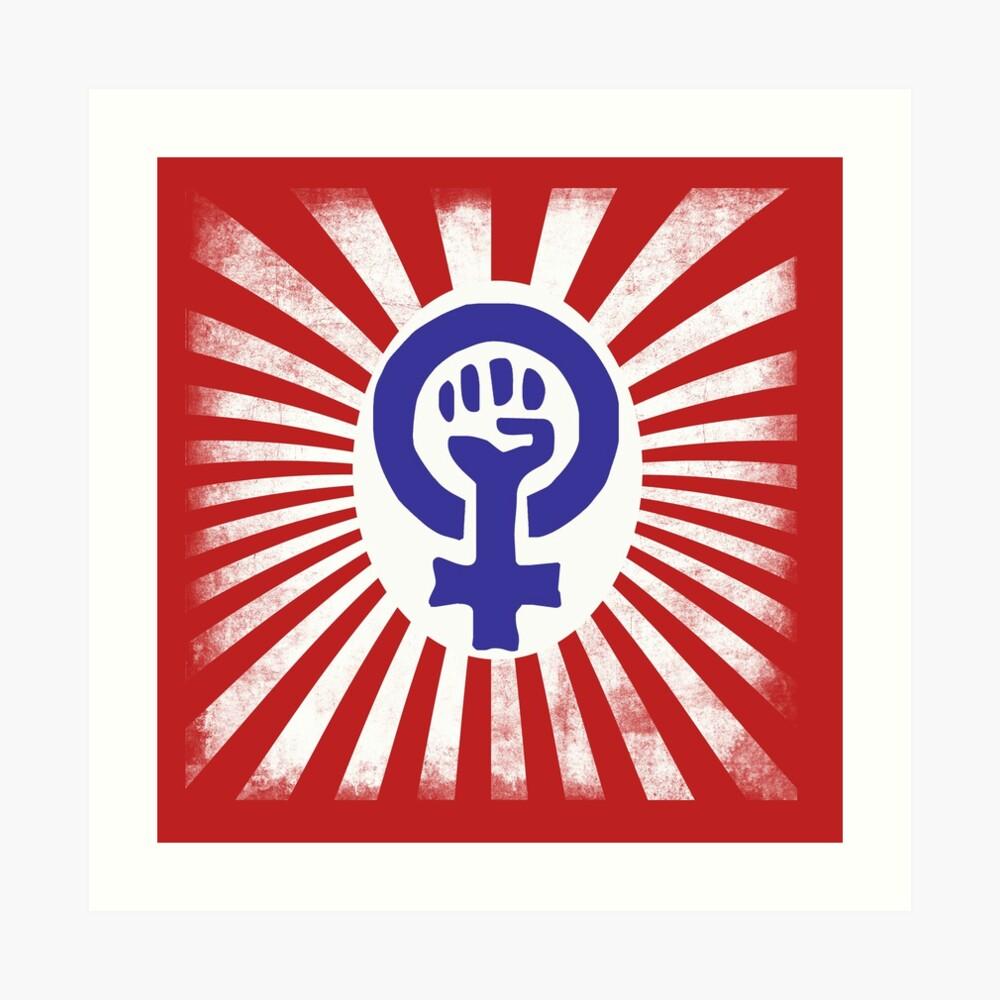 feminist logo art print