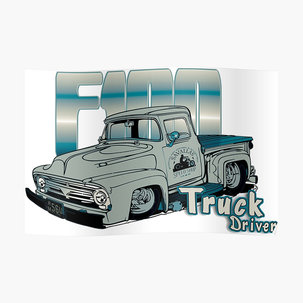 medium resolution of ford f100 truck driver 1953 1956 poster