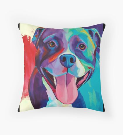 Pitbull Throw Pillows  Redbubble