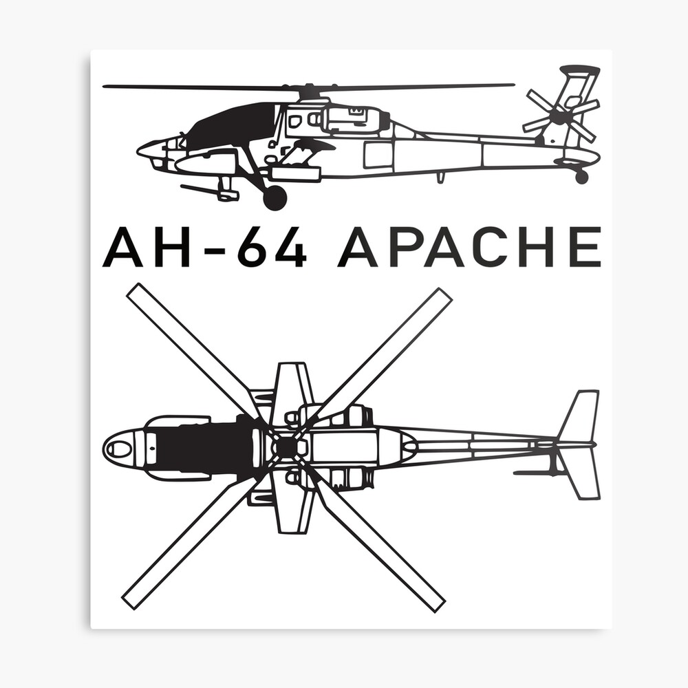 medium resolution of  ah 64 apache attack helicopter metal print by battlefield redbubble