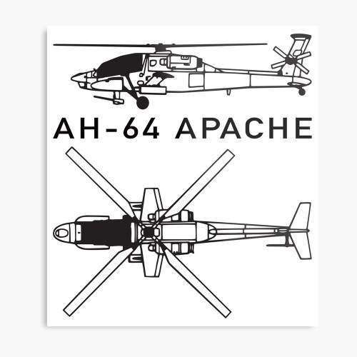 small resolution of  ah 64 apache attack helicopter metal print by battlefield redbubble