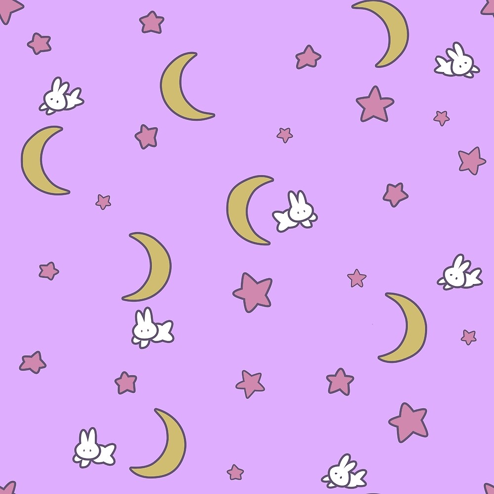 """Sailor Moon inspired Bunny of the Moon Bedspread Blanket Print"""" by ..."""