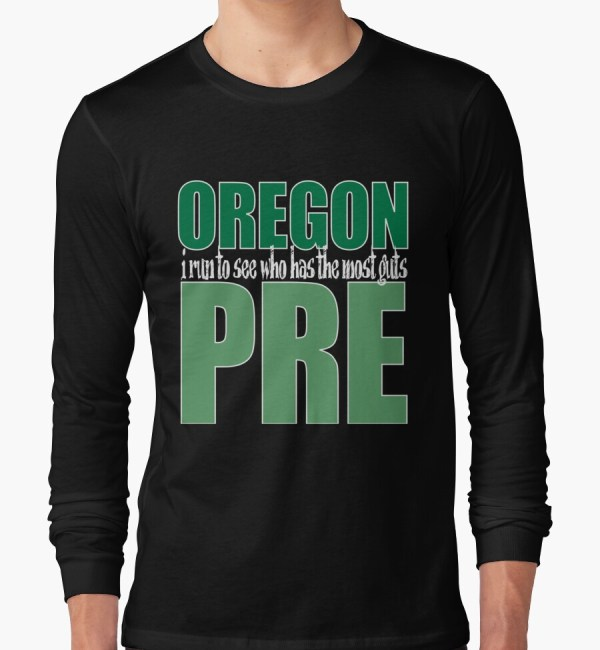 """steve Prefontaine Legend Dark Shirt"" Long Sleeve T-shirts"