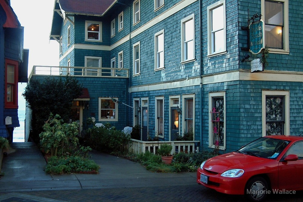 Sylvia Beach Hotel  Newport Oregon by Marjorie Wallace