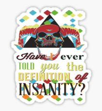 definition of insanity stickers