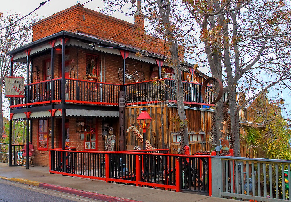 House Of Joy In HDR Jerome AZ By Barb White Redbubble