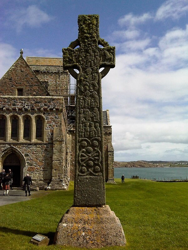 St Martins Cross  Iona Abbey Iona Scotland by