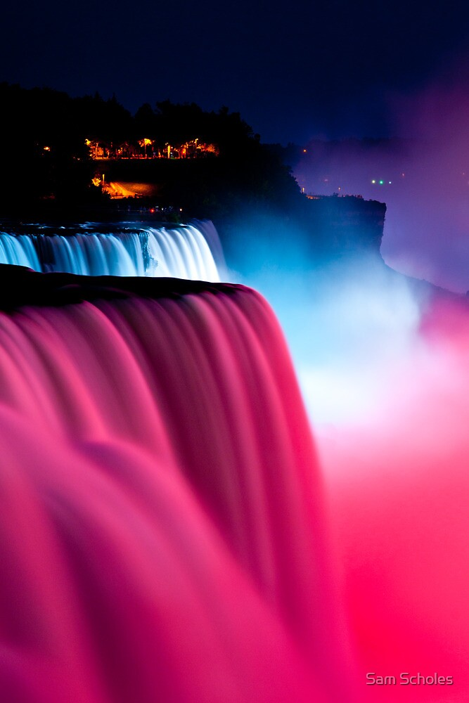 Niagara Falls Wallpaper Nature Quot Colorful Waterfalls Quot By Sam Scholes Redbubble