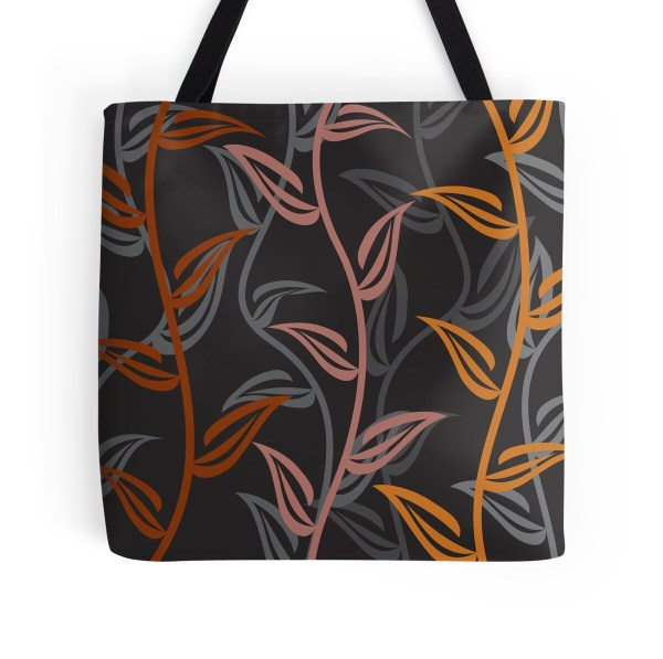 """""""coppertone Floral Garden"""" Tote Bags Carswell King"""