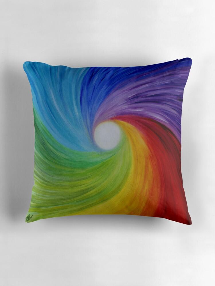 Fine art Abstract painting OilRainbow MOOD  Throw
