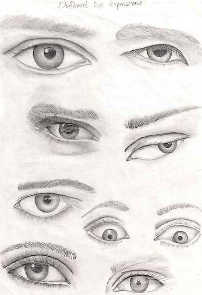 Different Eye Expressions By FarhanHan Redbubble