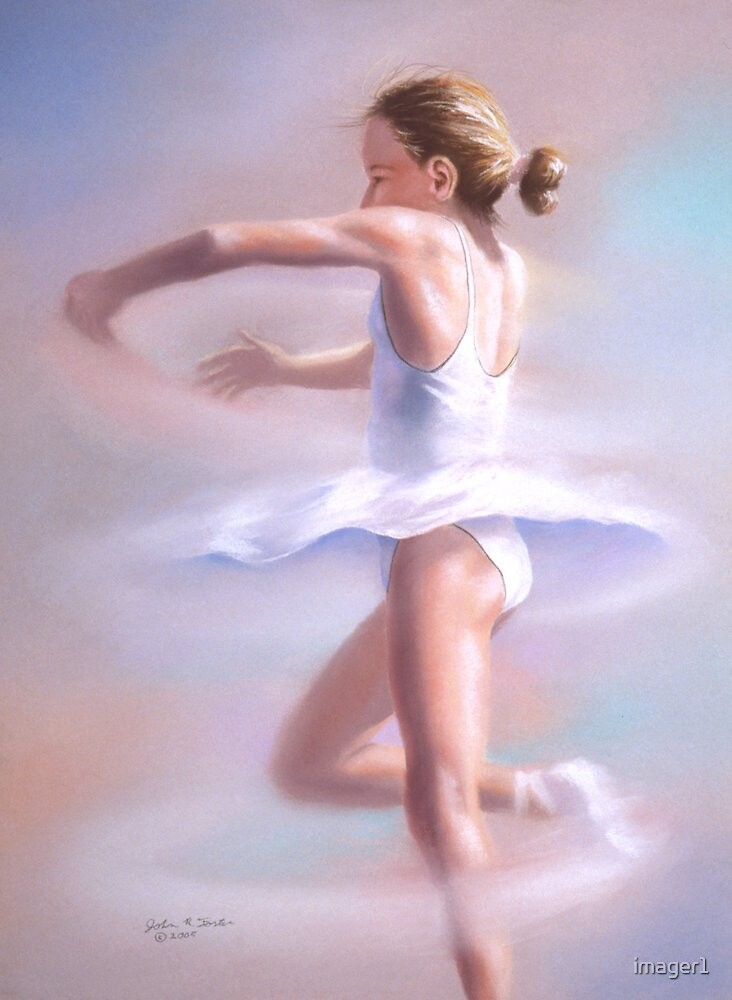 Piroette  Young ballerina spinning by imager1  Redbubble