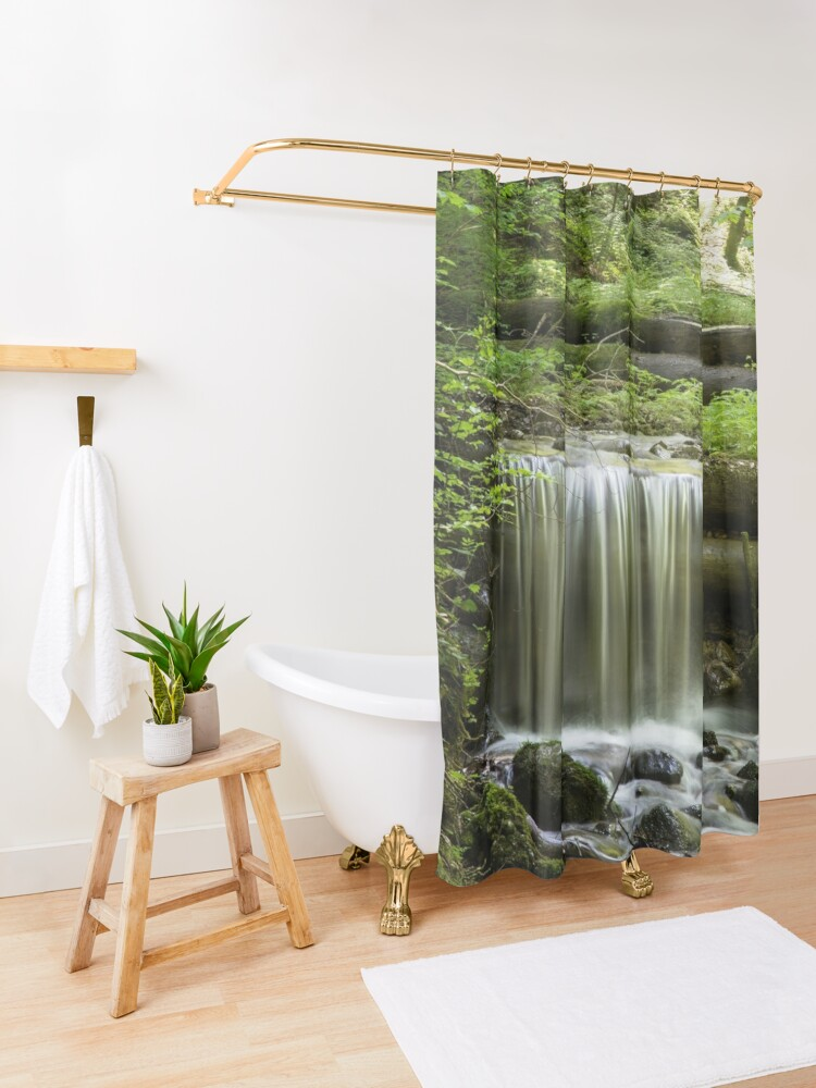Funny Green Circuit Board Shower Curtain Shower Rings Included 100