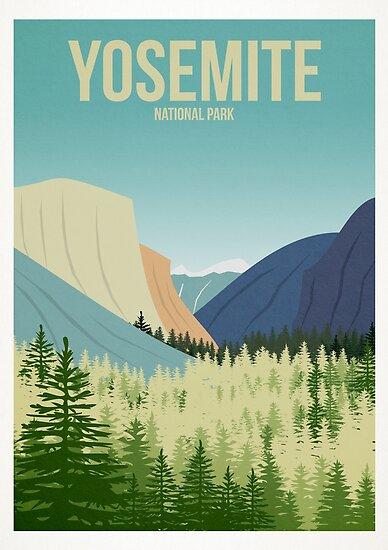 """Yosemite National Park"" Poster by JamieHarknett"