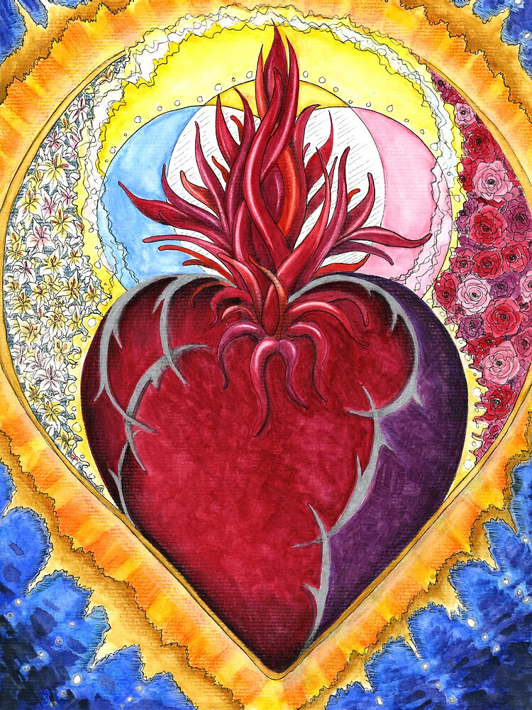 Sacred Heart and Three Fold Flame by Julie Howell