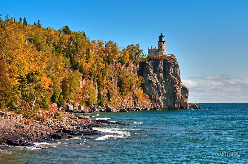 Red Fall Leaves Iphone Wallpaper Quot Split Rock Lighthouse 3 Quot By Jimguy Redbubble