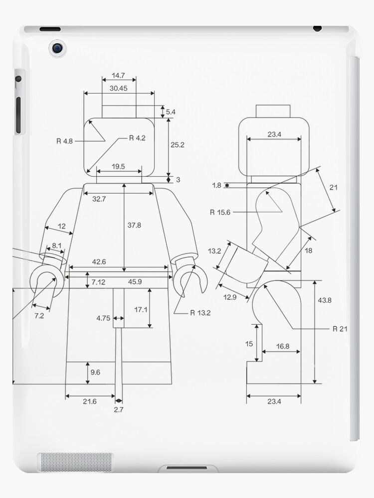 Vinilos y fundas para iPad «Hombre Lego» de eadingtonanne