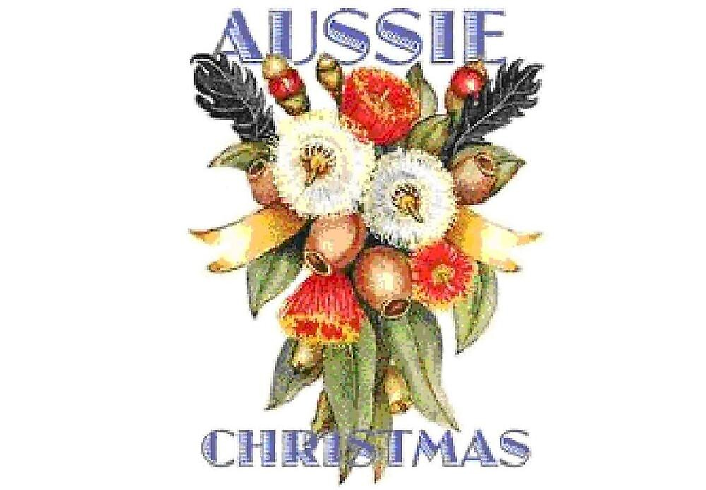 Aussie Christmas Posy By Adgray Redbubble