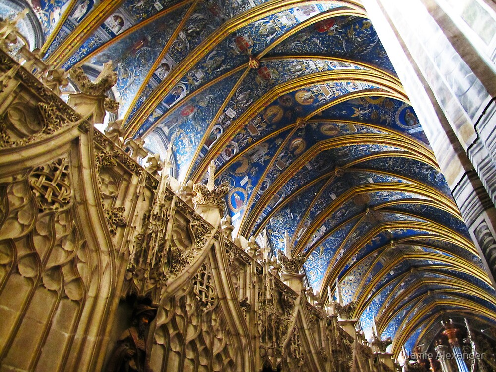 Blue Ceiling  Cathedral of Albi France by Jamie