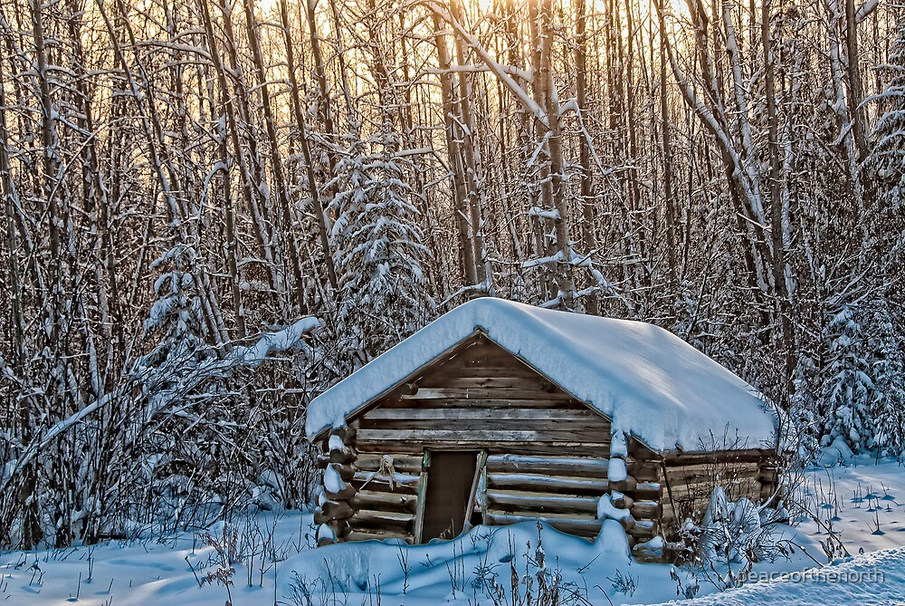 The old Trappers Cabin by peaceofthenorth  Redbubble
