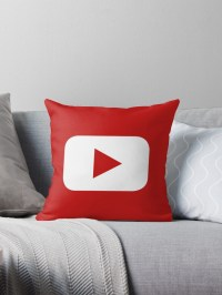 """Youtube"" Throw Pillows by CGiliberti | Redbubble"