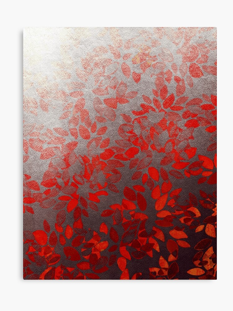 floral wash red colorful