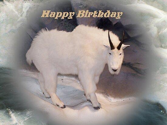 Baby Goat Saying Happy Birthday