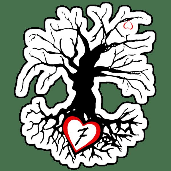 Sticker: 7 of hearts tree