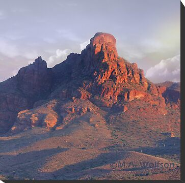 Red Mountain by Monica Wolfson  Redbubble