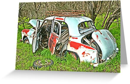 Rusted Wreck, on Redbubble, by Stephen Mitchell