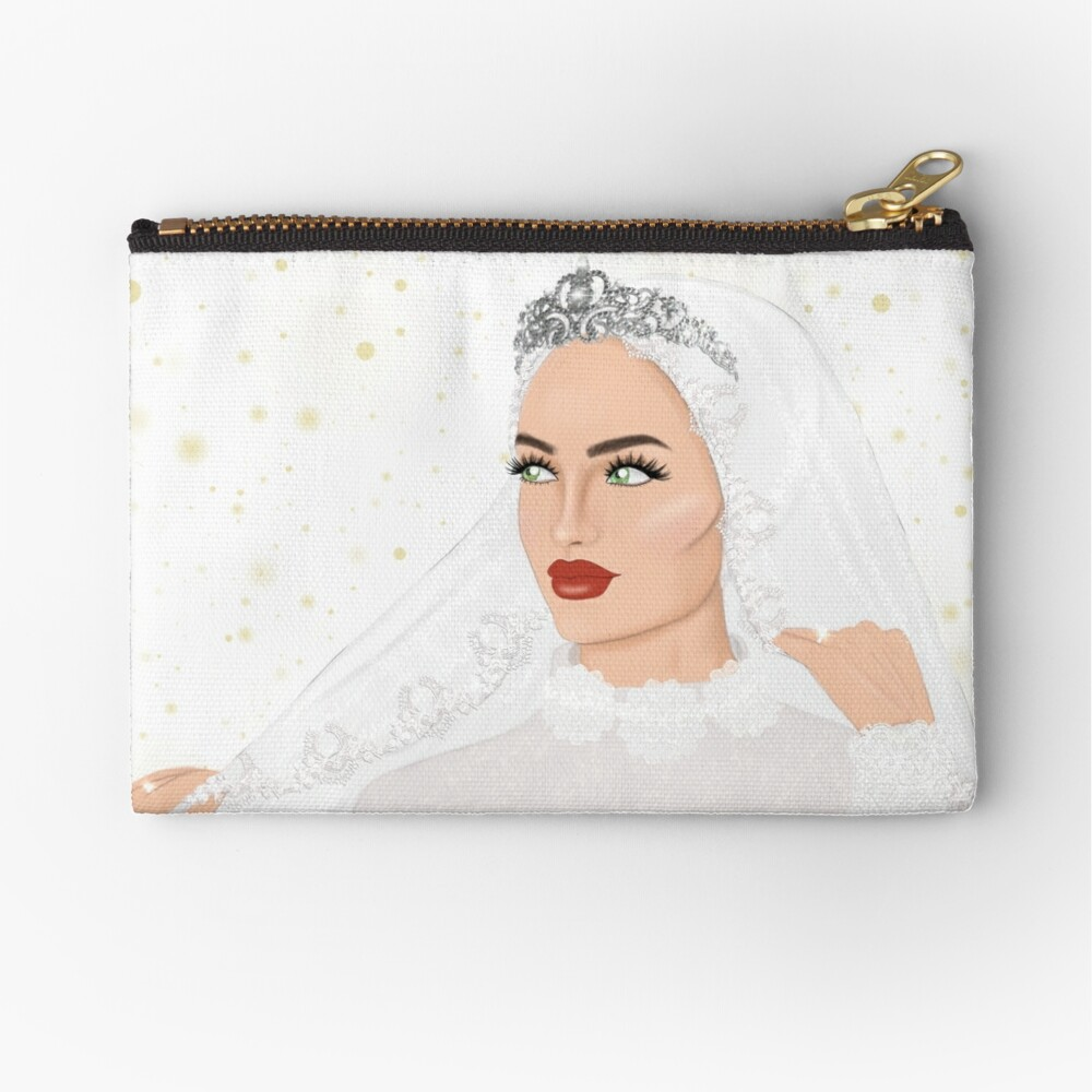 To start off, here are two common ways a hijabi princess in singapore would wear her headgear with a tiara. Hijab Bride Wearing A Crown Zipper Pouch By Imanitasong Redbubble